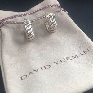 Authentic David Yurman cable earrings 925 DY